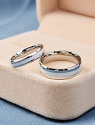 cheap -Korea Style Fashion White Titanium Steel Couple Rings Promis rings for couples