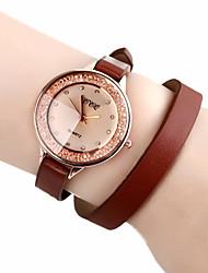 Недорогие -CCQ искусственная кожа Женщины платье часы с горный хрусталь-8