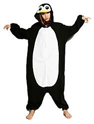 economico -Per adulto Pigiama Kigurumi Pinguino Pigiama a pagliaccetto Costume Pile Nero / Bianco Cosplay Per Pigiama a fantasia animaletto cartone animato Halloween Feste / vacanze