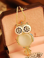 cheap -Women's Owl Snowflake Shape Fashion Pendant Necklace Alloy Pendant Necklace Special Occasion Birthday Gift Costume Jewelry