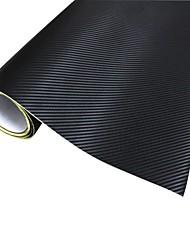 Merdia Décoration 3D PVC fibre de carbone d'enveloppe de film autocollant pour la voiture-noir (127 x 50cm)