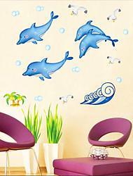 Dolphin Muster Wandaufkleber (1PCS)