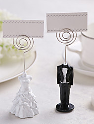cheap -Iron Resin Place Card Holders 1 Standing Style PVC Bag Wedding Reception