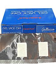 100pcs UV Nail Remover sølvpapir