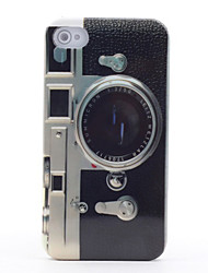 abordables -caso duro retro del espejo del modelo de la cámara para las cajas del iphone del iphone 4 / 4s