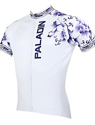 ILPALADINO Cycling Jersey Men's Short Sleeves Bike Jersey Top Quick Dry Ultraviolet Resistant Breathable 100% Polyester Floral / Botanical