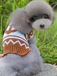 abordables -Gato Perro Suéteres Ropa para Perro Un Color Café Rosa-Azul Material Mixto Disfraz Para mascotas Clásico