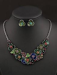 economico -cristallo di modo orecchino del fiore delle donne senlan&vestito della collana