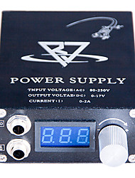 abordables -LCD Blue screen Black Tattoo Power Supply