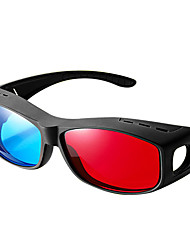 Reedoon General Red Blue Side by Side Myopia 3D Glasses for Computer TV Mobile