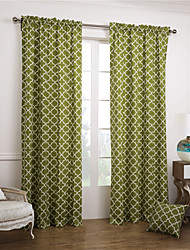 billige -To paneler Vindue Behandling Moderne, Mønstret Soveværelse Bomuld Materiale Gardiner forhæng Hjem Dekoration