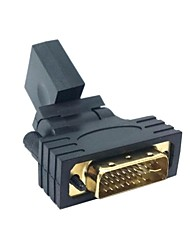1080p DVI Male to HDMI V1.3 Female 360 Degree Rotating Swivel Adapter for HDTV Video Card Free Shipping