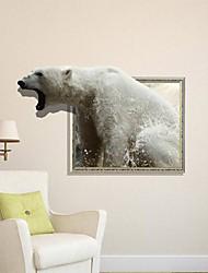 Decalques Urso 3D adesivos de parede em parede