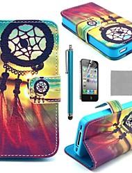 Недорогие -Кейс для Назначение iPhone 4/4S Чехол Твердый Кожа PU для iPhone 4s / 4