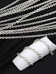 10Meters Silver Plated Metal Line Chain 3D Alloy Nail Art Decoration