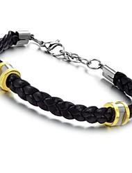 Classy Cuoio Materiale Titanio Bracciale in acciaio con Fashion and Personality