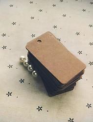abordables -etiqueta de papel marrón rectángulo (juego de 100) boda favorece el tema clásico