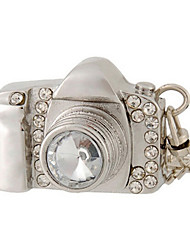 cheap -8 GB Camera Design USB Flash Drive with Rhinestone Decoration