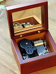 Недорогие -Ремесленники дом Целуй дождь классический деревянный ящик музыку