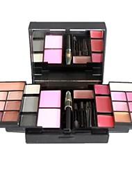 Недорогие -Профессиональный 23 Цвет Тени для век + Блеск для губ + румяна макияж Палитра P23-01 #