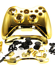 cheap -Replacement Housing Case Cover for XBOX 360 Wireless Controller Golden