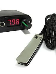 Недорогие -Новый мини комплект мощности привело экран тату батареи питания черный объединить ножной клип шнур