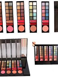 billiga -professionell 78 färg 60 ögonskugga / 6 rouge / 12 läpp palett glans med spegel&svampapplikatorn smink uppsättning