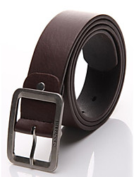 cheap -Men's Leather Buckle,White Black Brown Work Casual Solid