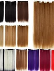 Недорогие -Расширения человеческих волос Прямой Классика Искусственные волосы Накладки из натуральных волос Жен. Красный