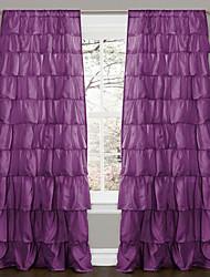 billige -Gardiner forhæng Soveværelse Ensfarvet Polyester
