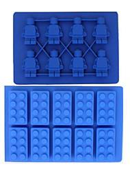 Brick & MINI robot en forme de kits FDA Silicon Ice Cube Tray