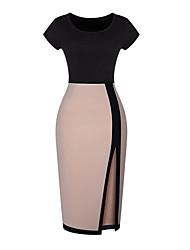 billige -sexet splejsning monteret Bodycon kjole