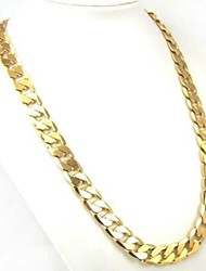cheap -Men's Women's Gold Plated Chain Necklace  -  Personalized Classic Fashion Circle Gold Necklace For Daily Casual Sports