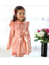 cheap -Mifeier children Lapel Neck Double Breast Long Sleeve Dress