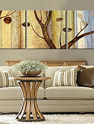 baratos -Canvas Art árvores e folhas Conjunto de 3