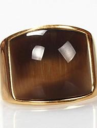 Недорогие -Муж. Опал Заявление - Мода Золотой Кольцо Назначение Новогодние подарки Повседневные