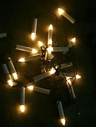 economico -20-led solari alimentati portato fata stringa a lume di candela Natale all'aperto stringa di natale lampada da giardino luce