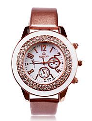 Недорогие -Персональный подарок Часы, Аналоговый Японский кварц Часы с Сталь Материал корпуса PU Группа Повседневные часы / Модные часы / Наручные часы Глубина сопротивления воды