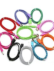 abordables -3m V8 Micro USB Tenacity Nylon Round Data Cable for Samsung and Other Phone (Assorted Colors)