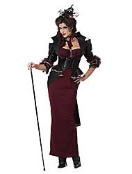 Недорогие -Lady Of The Manor Wine Red & Black Terylene женского Хеллоуин костюм