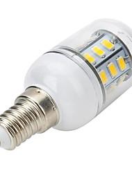 E14 LED Spotlight LED Globe Bulbs LED Corn Lights T 27 leds SMD 5730 Warm White 300-400lm 3000-3500K AC 220-240V