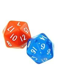 cheap -20 Sides 5 Piece Funny Humour Gambling Bar Dice Colorful Dice(Random Color)