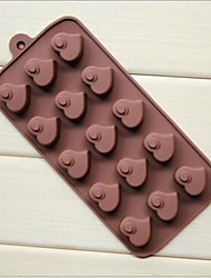 cheap -15 Hole Heart Peach Heart Shape Cake Ice Jelly Chocolate Silicone Molds