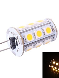 cheap -G4 3W 160LM 3500K 18x5050 Warm White LED Light Bulb(DC 12V)
