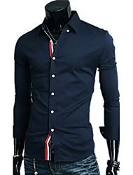muške košulje ovratnik kontrast boja dugi rukav košulje