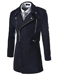 billige -Men's Casual Fashion Trench Coat