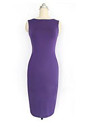 cheap -Monta Slim Fit Short Sleeves  Knee High Dress
