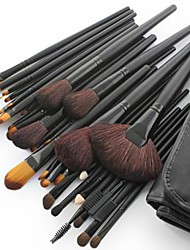 cheap -32PCS Professional Goat Hair Black Handle Makeup Brush With Free Case