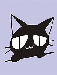 Cartoon Cat Peeping Action Car Stickers