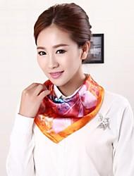 baratos -nova mancha estilo de pintura chegada lenço quadrado uniforme das mulheres